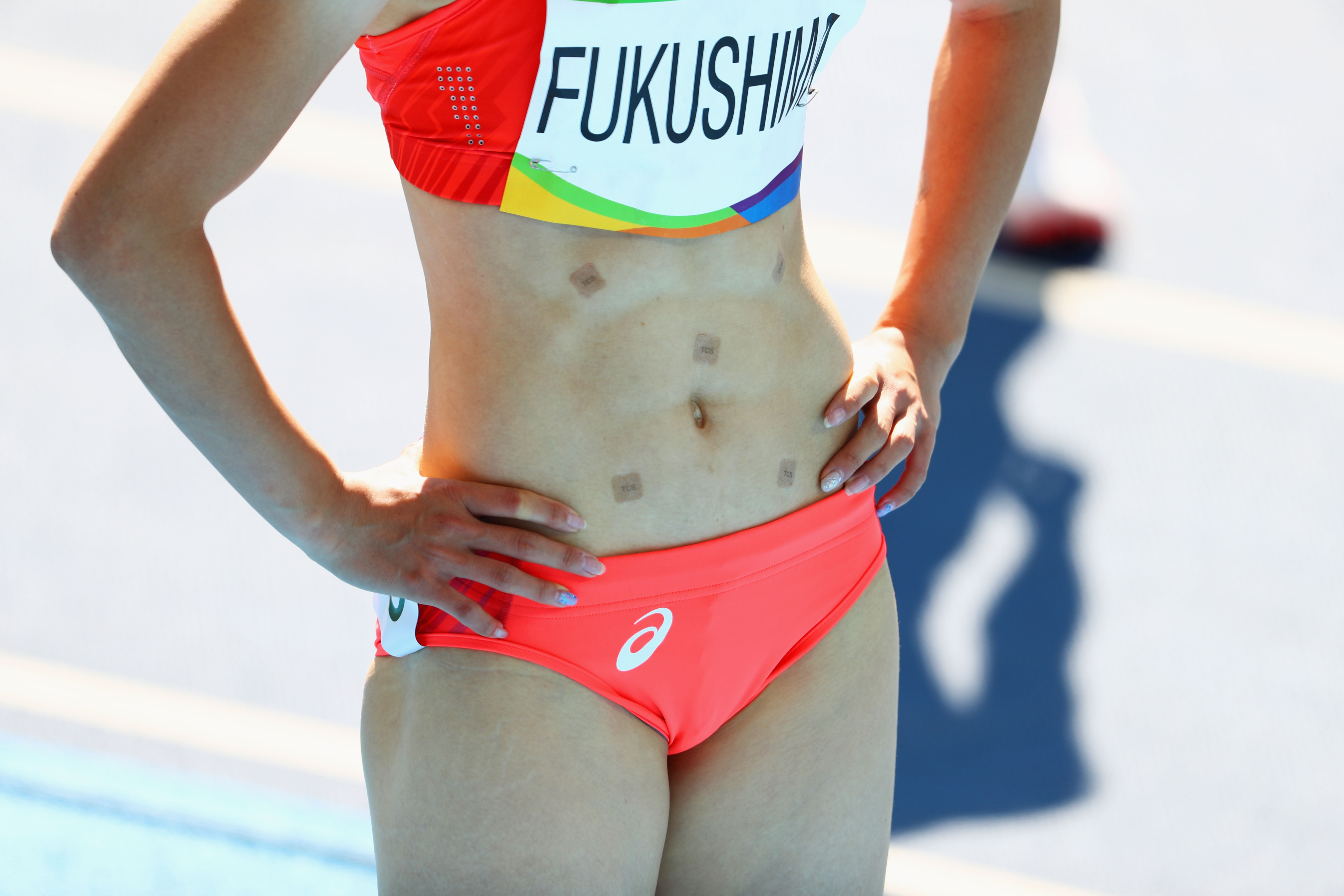 GettyImages 589707276 Heres Why Japans Chisato Fukushima Wore Patches While Running In Rio