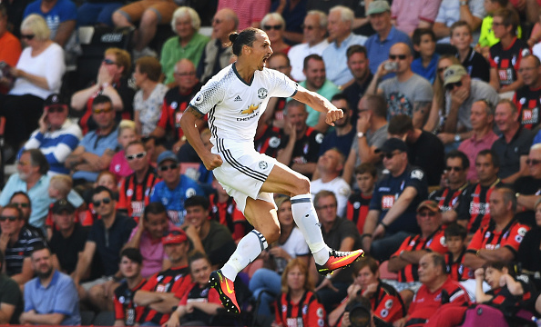 Ibra Getty Celebration Bournemouth 3 Zlatan Makes Incredible Gesture For Uniteds Young Stars