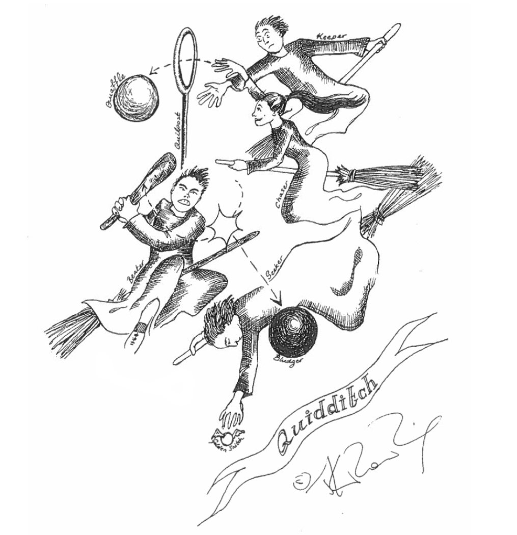 JKR Quidditch illustration JK Rowling Just Released Some Amazing Early Sketches Of Harry Potter Characters