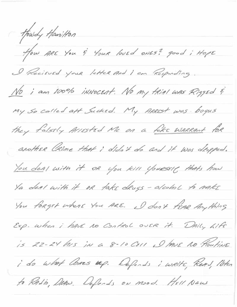Jeff Wood Letter 1 This Harrowingly Depressing Letter Reveals The Reality Of Death Row