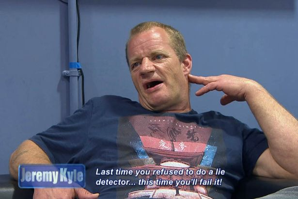 Last time you refused to do a lie detector this time youll fail it 2 Jeremy Kyle Guest Dragged Away By Security After Getting Violent