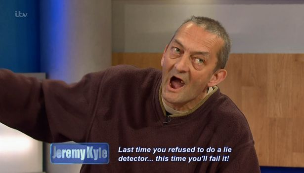 Last time you refused to do a lie detector this time youll fail it Jeremy Kyle Guest Dragged Away By Security After Getting Violent