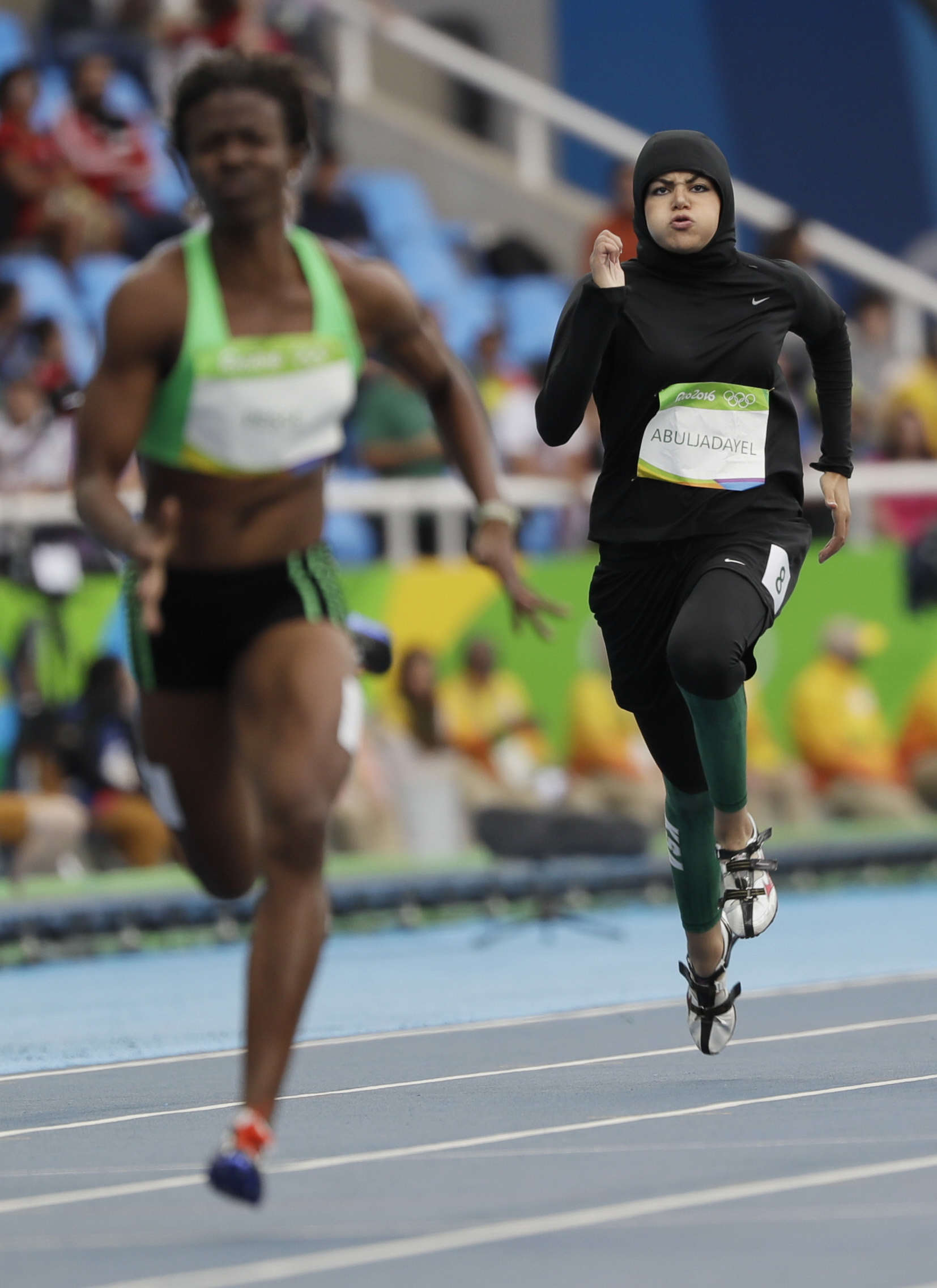 Historic Moment Sprinter Becomes First Saudi Woman To Run 100m At Olympics PA 28330946