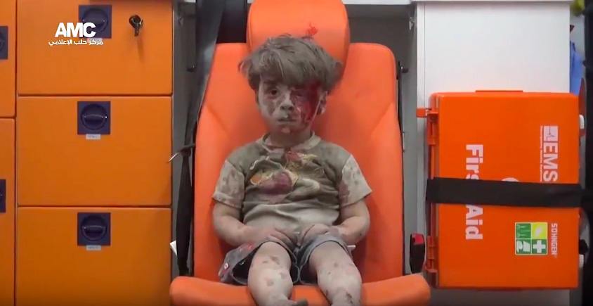 Screen Shot 2016 08 18 at 09.23.43 This Child Pulled From Syrias Rubble Is The Shocking Reality Of War