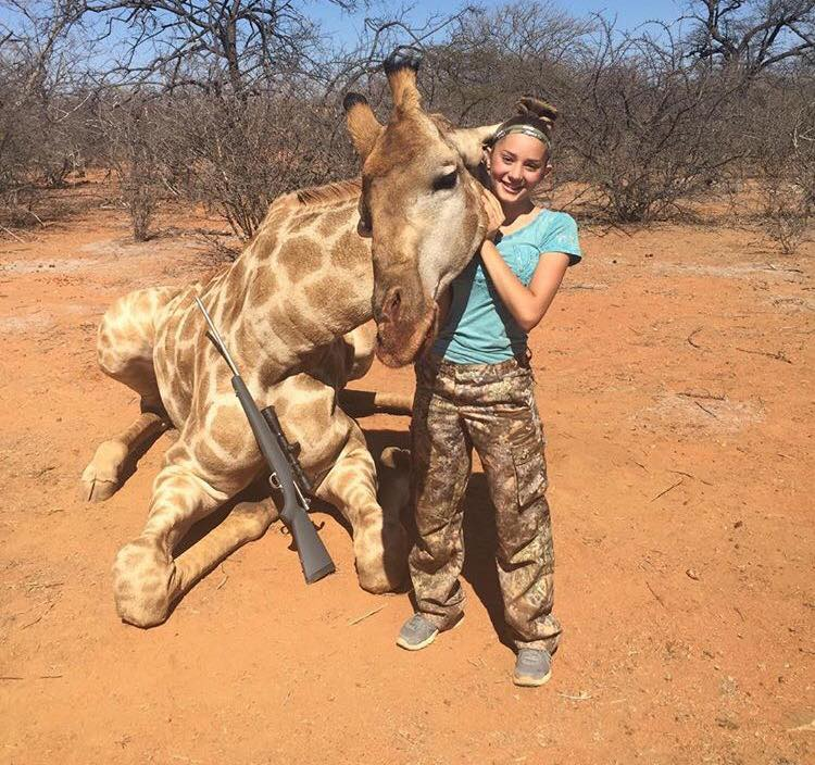 giraffe2 12 Year Old Hunter Receives Death Threats Over Her Gruesome Photos