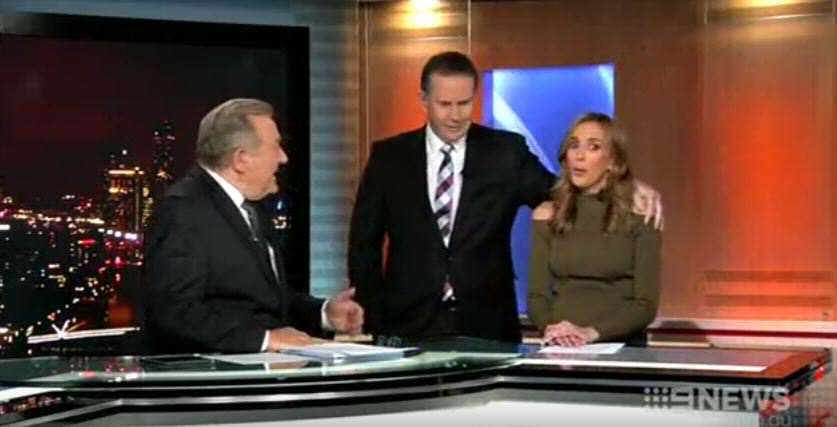 news 1 News Anchor Tries To Kiss Weather Girl, Gets Brutally Rejected