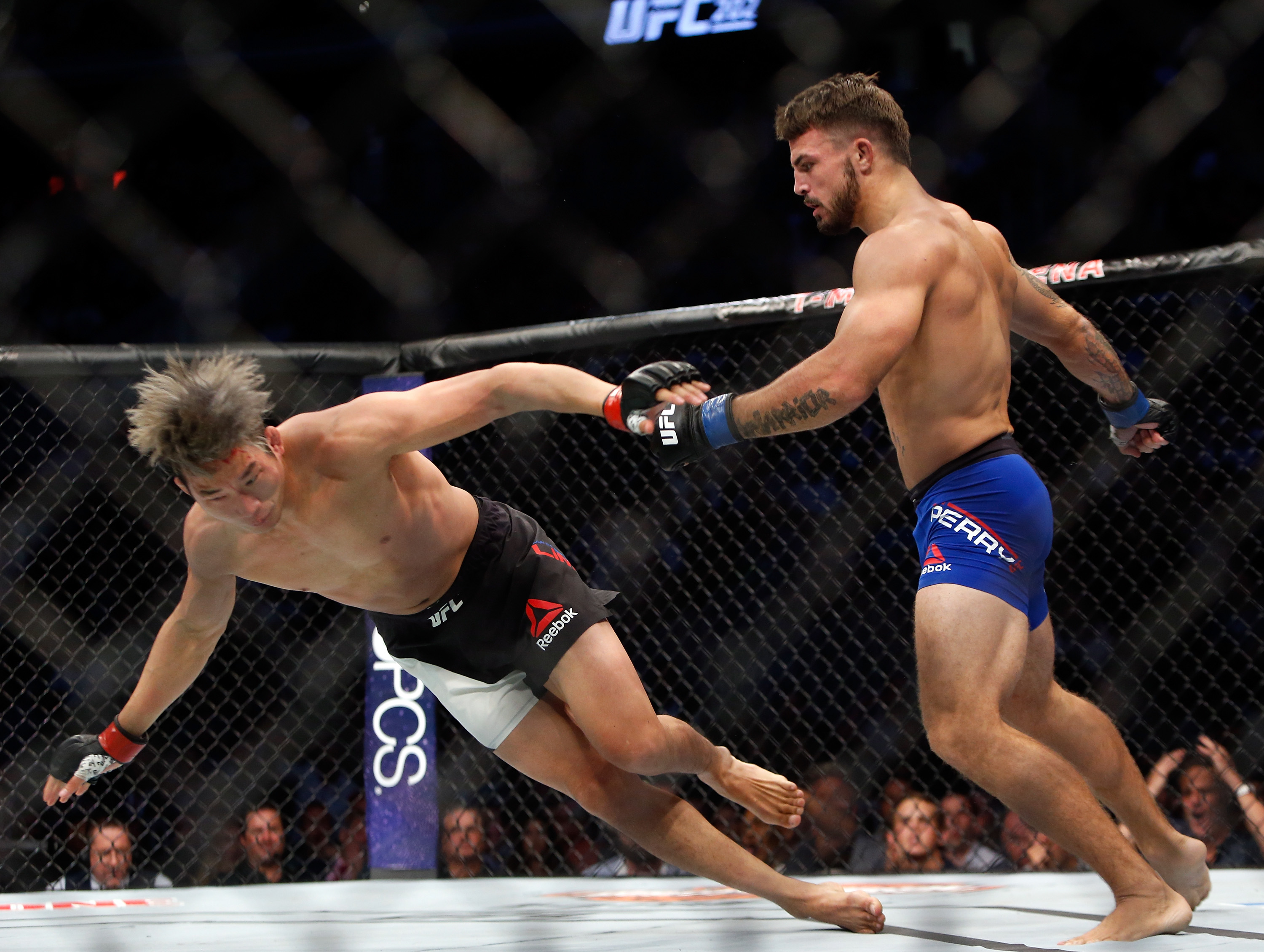 Mike Perrys Brutal UFC Knockout Debut Spoiled By Racist Outburst perry1