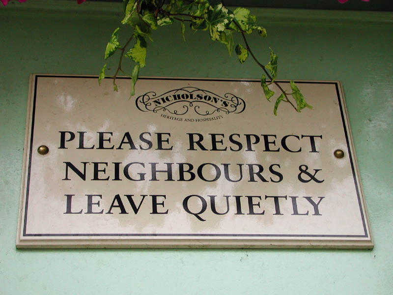 pub2 Pub Landlord Puts Up Awesome Sign To Complaining Neighbours