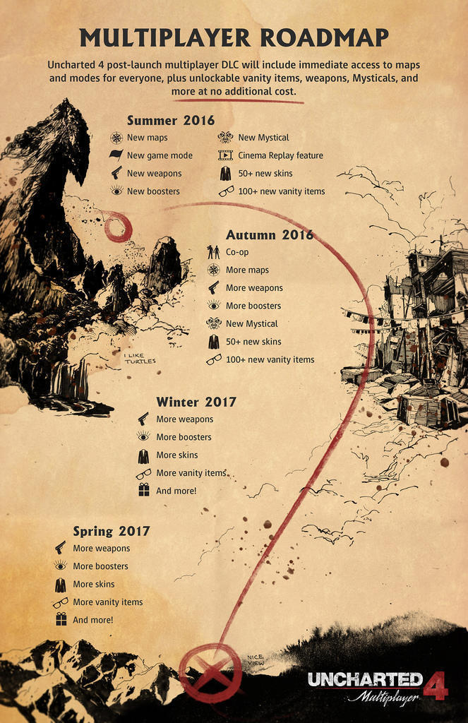 3123135 roadmap Uncharted 4 Massive Free Update Out Now, Heres Whats In it