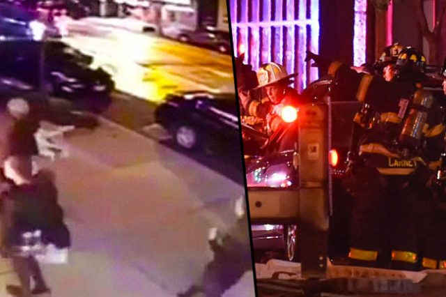 CCTV Footage Captures Moment Explosion Rips Through New York