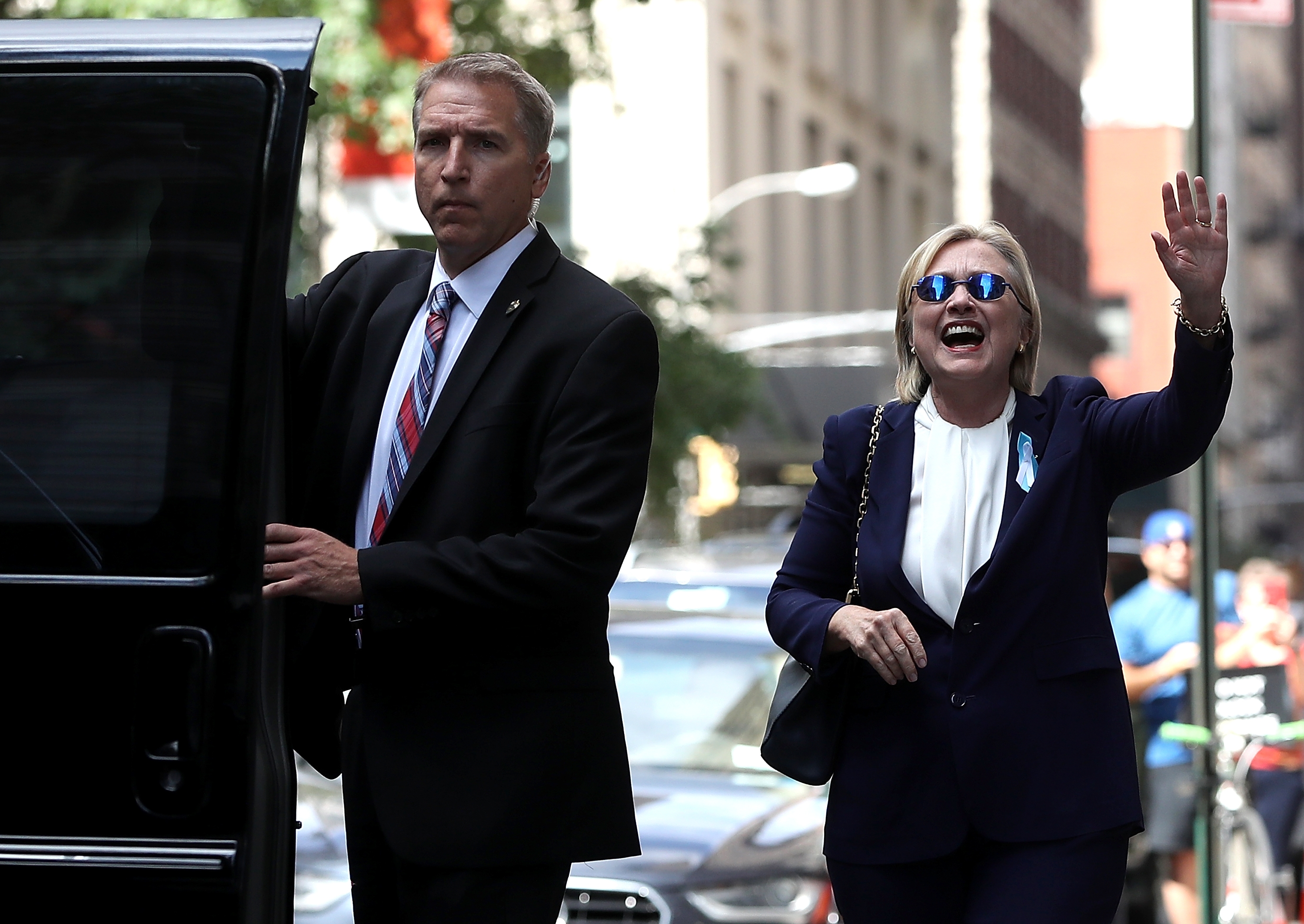 People Believe Hillary Clinton Was Replaced By Body Double After Collapse GettyImages 602406252