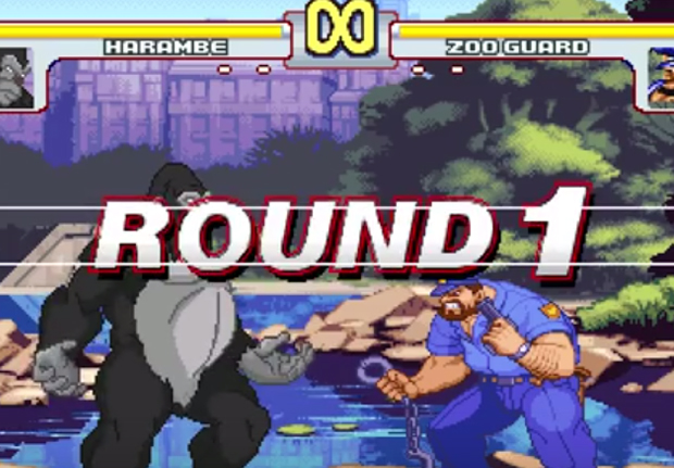 HarambeStreetFighterWEB Harambe Is Now A Character In Street Fighter Game Play