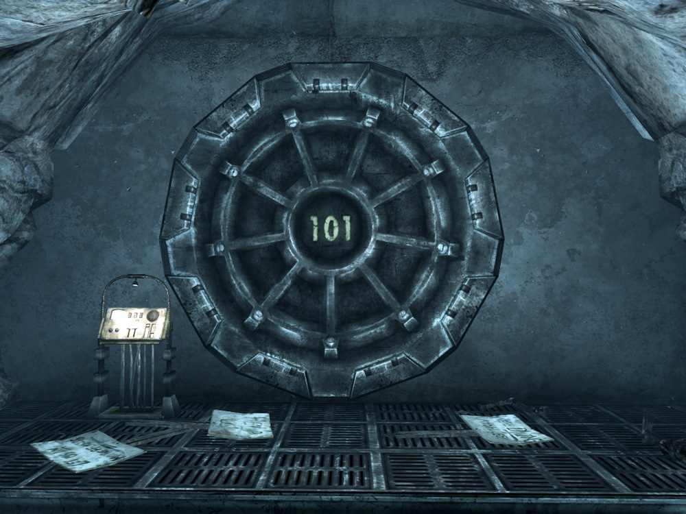 The Nine Best Videogame Opening Sequences Vault 101 entrance ext 3258835