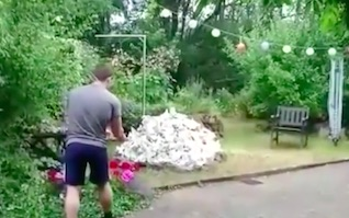 bomb1 Guy Destroys Garden With Massive Explosion In Bizarre Stunt Gone Wrong