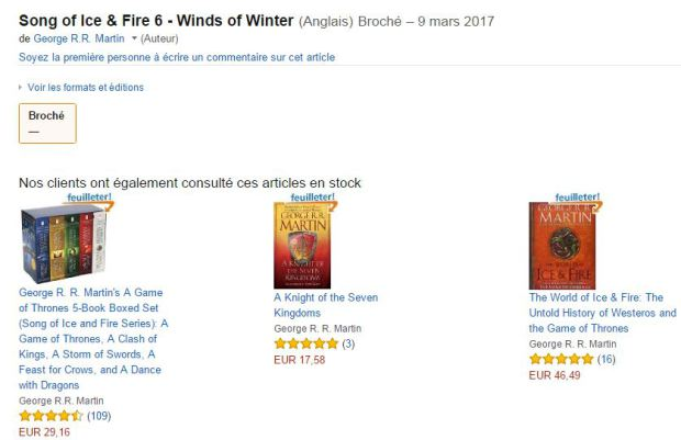 capture10 Amazon Next Game of Thrones Book Release Date Accidentally Leaked
