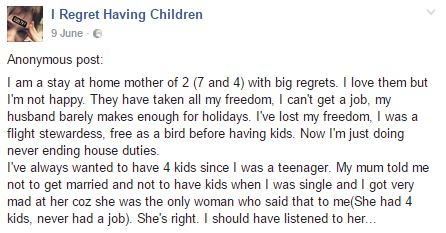 Parents Reveal Why They Regret Having Children confession 1