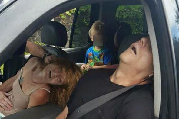 Graphic Photos Of Couple Overdosed On Heroin With Boy, 4, In Back Seat heroin1