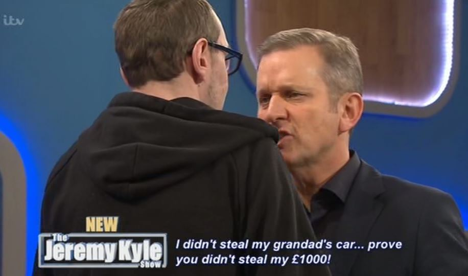 kyle3 Jeremy Kyle Guest Calls Him A C*nt Then Smashes TV In Angry Rampage