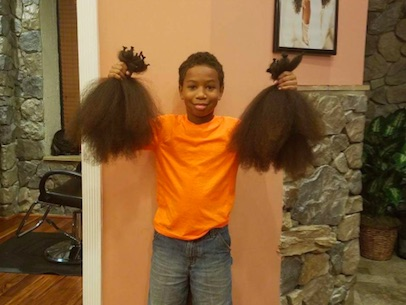 thomas1 Ten Year Old Boy Donates His Hair After Seeing Young Girl With Cancer