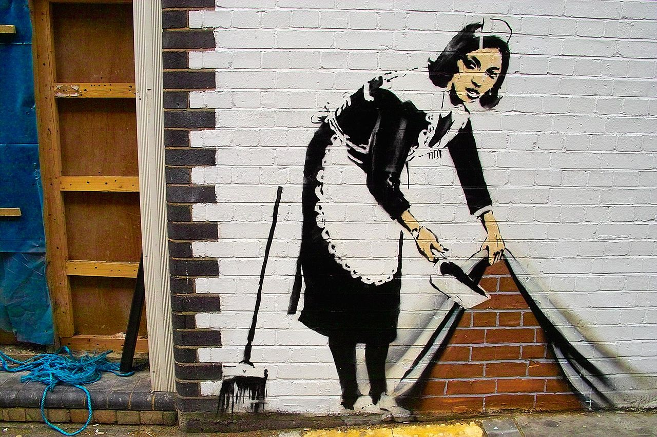 1280px Banksy   Sweep at Hoxton Robbie Williams Shares Creepy AF Sex Story About His Cleaning Lady