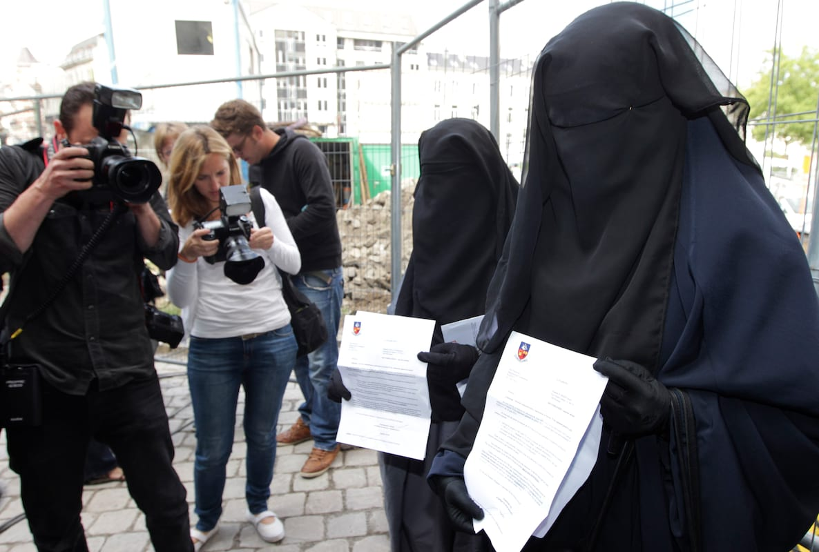 why france banned the muslim burqa and veil The year of the burqa ban: where, how, & why it  the full-face veil must be banned,  withdrew a bill that would have banned muslim women from.