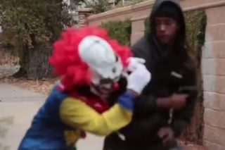 Killer Clown Prank Seriously Backfires When 'Victim' Pulls Out Handgun