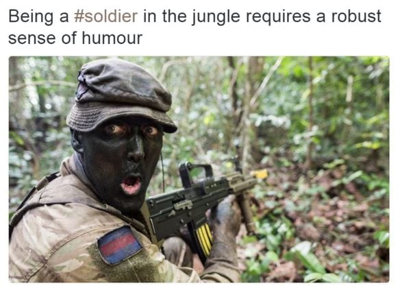 39055UNILAD imageoptim blackface British Army In Racism Controversy For Tweeting Blacked Up Soldier Pic
