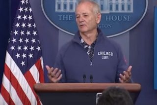 Bill Murray Randomly Wanders Into White House And Stars Answering Questions