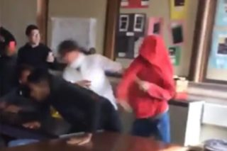 Student Knocks Out Boy Who Punched His Female Teacher