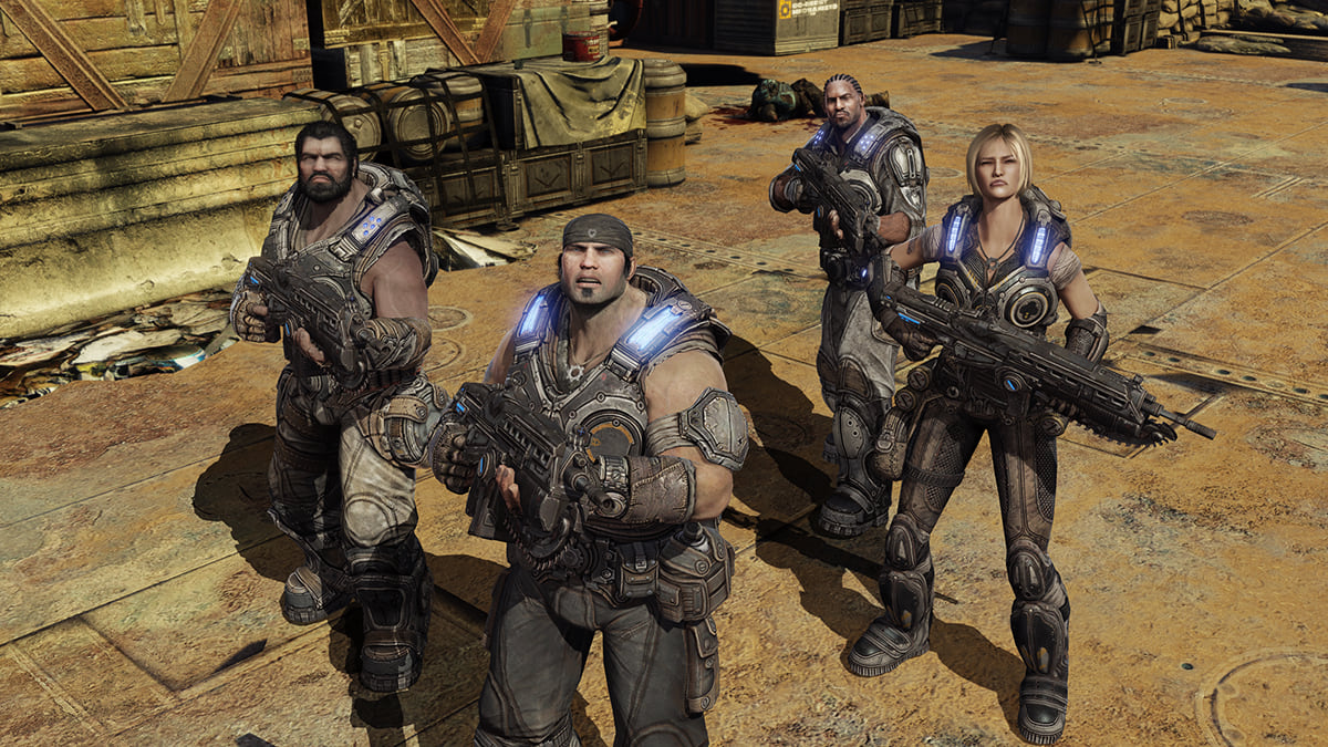 8633UNILAD imageoptim Gears of War 3 campaign screenshot featuring Marcus Fenix and Delta Squad Gears Of War Movie Confirmed To Be Back Underway
