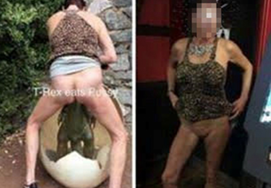 Woman Who Had Sex With Kids Playground Dinosaur Identified By Police dino3