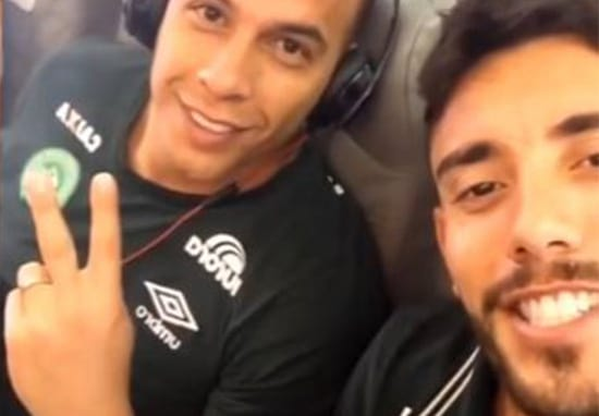 Chilling Snapchat From Within Brazillian Football Team's Plane