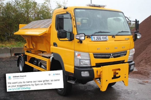 Oldham Council Immediately Regret Asking Public To Name Gritter