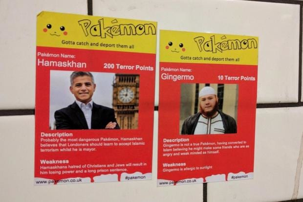22067UNILAD imageoptim pakemon Racist Pokemon Card Stickers Have Been Appearing In London