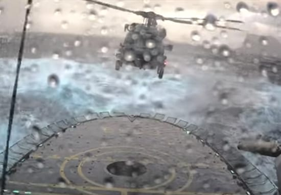 Watch Helicopter Attempt Tense AF Landing On Moving Ship During Storm
