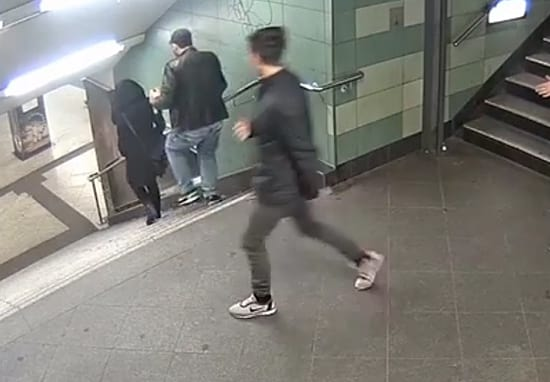 Brutal CCTV Footage Shows Man Kicking Woman Down Flight Of Stairs