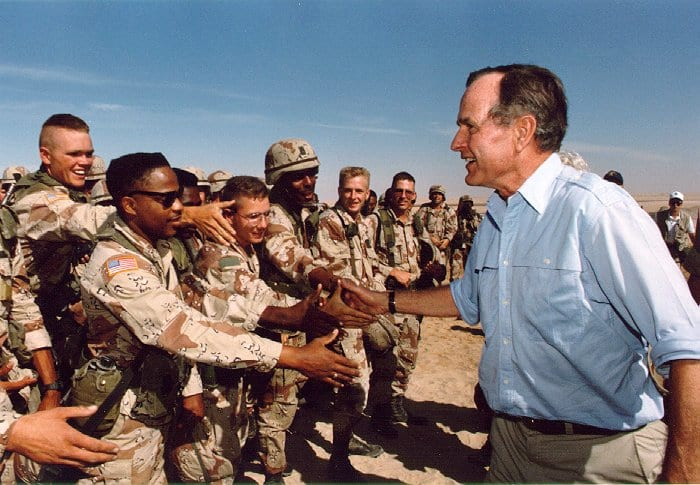 A Decade On, Has Iraq Benefited From Saddam Husseins Execution? 54461UNILAD imageoptim Bush troops