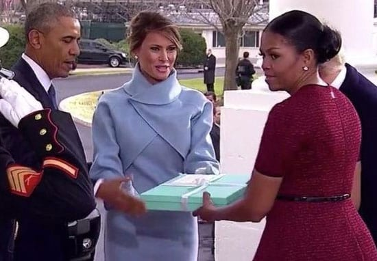 This Is What Was In The Box Melania Trump Gave Michelle Obama