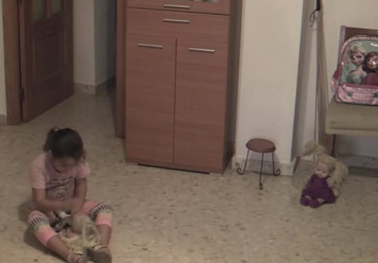 Possessed Doll Moves Head While Little Girl Plays In Her Room