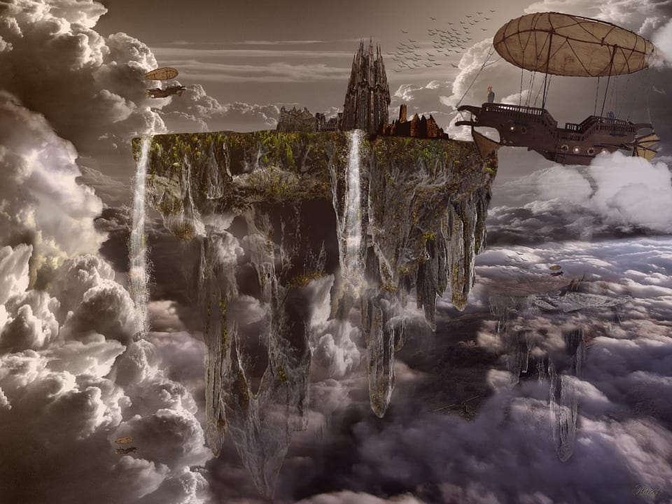 47134UNILAD imageoptim floating city pixabay Floating City Appears In Sky For Second Time In Two Years
