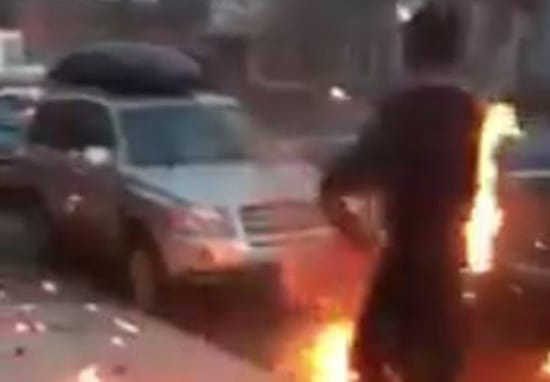 Man 'High On Crack' Engulfed In Flames, Walks Street Like Everything Is Fine