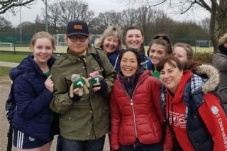 Ed Sheeran Stops To Watch His Girlfriend Play Hockey In Essex