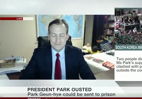 BBC Live Interview Goes Horribly Wrong As Kids Interrupt