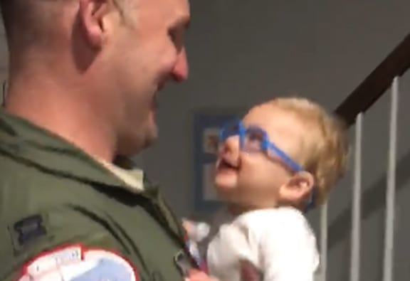 Local: Baby wears glasses, sees dad for first time