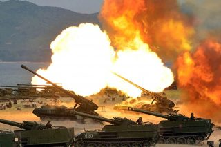 North Korean Army Fires Rockets At Mock Enemy Warships In Show Of Strength