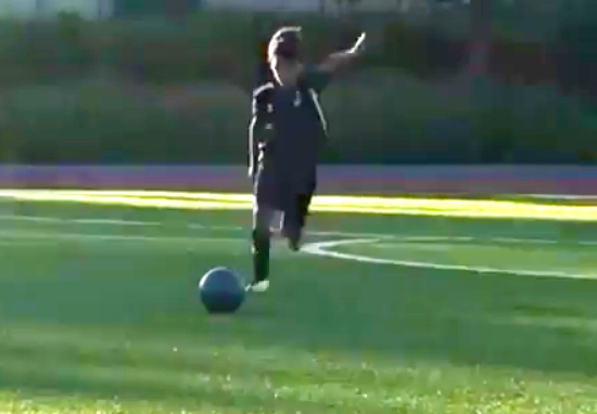 Cristiano Ronaldo's Six-Year-Old Son Is As Good At Free Kicks As Him